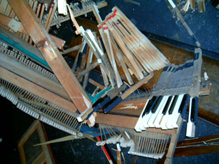 crushed piano